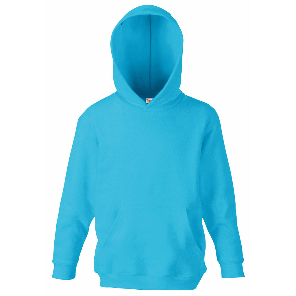 Kid Children Boy Girl Fruit of the Loom Cotton Rich Hoodie Hooded Sweat Top