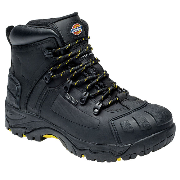 Men Dickies Waterproof Cow Leather Construction Builder Boot Shoes