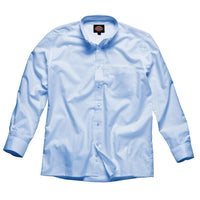 Mens Dickies Long Sleeve Oxford Cotton Rich / Polyester Button Down Shirt