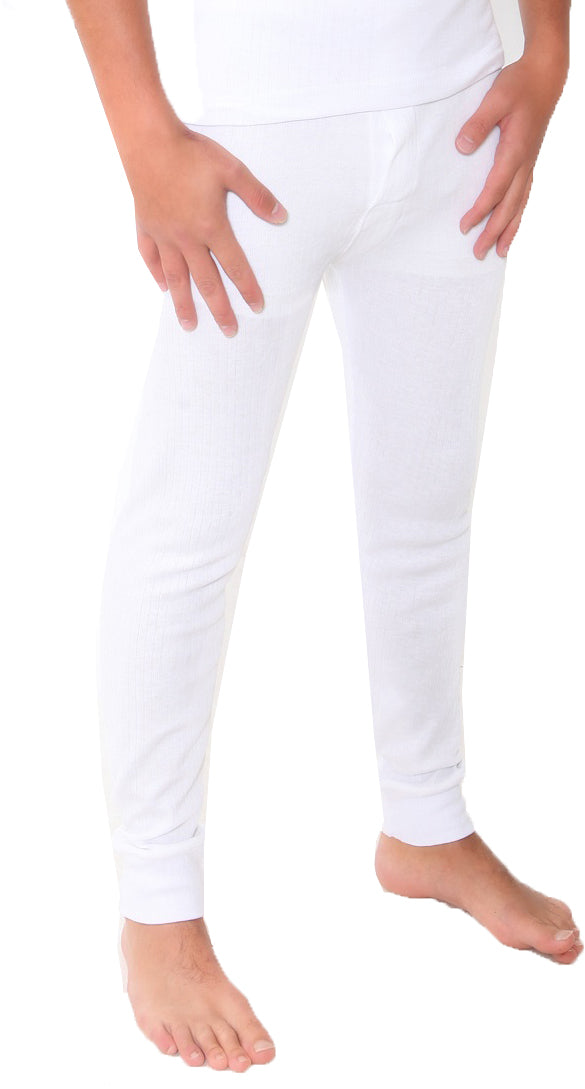 Twin Pack of Mens Thermal Long Johns / Pants / Bottoms Colour: White Size: Small