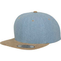 Adult Unisex Flexfit Chambray Suede Wool Blend Snapback Baseball Cap Hat