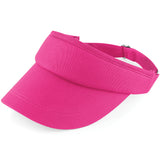 Ladies Women Beechfield 100% Cotton Golf Summer Sports Visor Hat