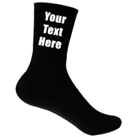 Mens Thermal Personalised Custom Text Socks Wedding Valentines Christmas Birthday