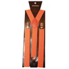 BRITWEAR® Neon Bright Orange Unisex Men / Ladies / Women Adjustable Braces Suspenders Y Belt Fancy Dress