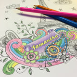 Personalised Adult Creative Colouring A4 Softback Book