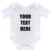 Personalised Baby Grow Suit with your own Text Custom Customized Vest Bodysuit