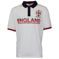 Mens England T Shirt Top Polo Neck Big Kingsize Duke World Cup 100% Cotton
