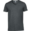 Mens Gildan Softstyle V Neck Short Sleeve Plain Colour Cotton T Shirt