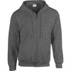 Mens Adult Gildan Heavy Blend Full Zip Hoodie Hooded Sweatshirt Top