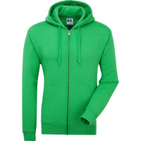 Mens Russell Authentic Zipped Zip Hooded Hoodie Colour Cotton Rich Sweat Top