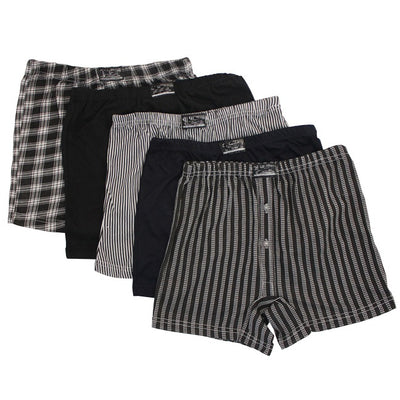 6 x BRITWEAR® Mens Button Fly Jersey Boxer Shorts Natural Cotton Rich Boxers Underwear
