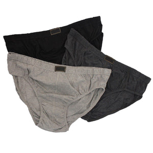 3 x Mens Plain Cotton Classic Briefs Slips