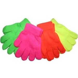 Neon Bright Kids Magic Gloves Winter Warm