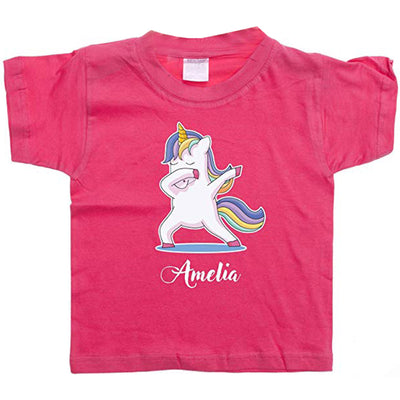 Personalised Unicorn Tshirt for Girls Kids