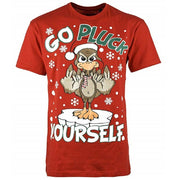 Mens Plus Size Christmas Xmas T Shirt King Big Novelty Fun Top 3XL-5XL