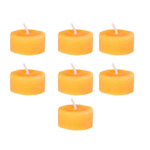 7 x 100% Beeswax Tea Light Candles with Metal Casing