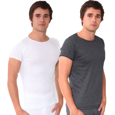 Mens Short Sleeved Winter Warm Brushed Premium Thermal Wear Underwear (British Made in Britain)