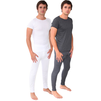Mens Winter Warm Made in Britain British Thermal Underwear Long John T Shirt Set