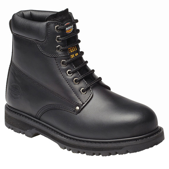 Mens Dickies Cleveland Super Leather Steel Toe Cap Safety Boot Shoes Builder
