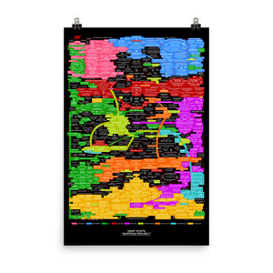 KEY TO THE Q-WEB POSTER (BLACK) v.10.18
