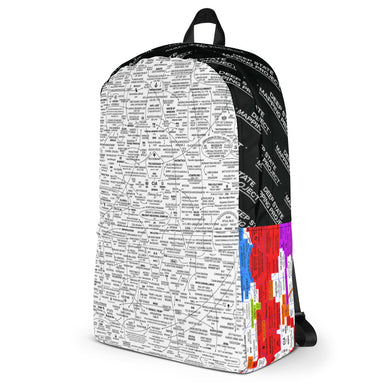 MIXED PRINT BACKPACK