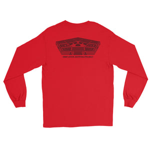 D.S.M.P. LOGO with PENTAGON LONGSLEEVE T-SHIRT (LIGHTS)