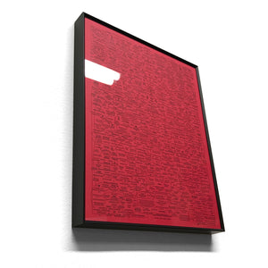 "Q-WEB 8x10"" RED in BLACK ALUMINUM FRAME (SIGNED) w Intel Packet"