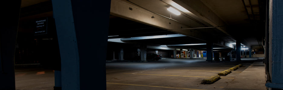 Dark parking garage - Mace® Moment