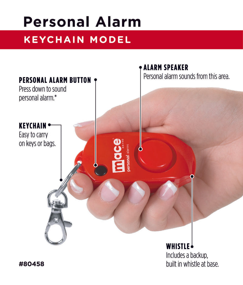 Personal Alarm Keychain - Red