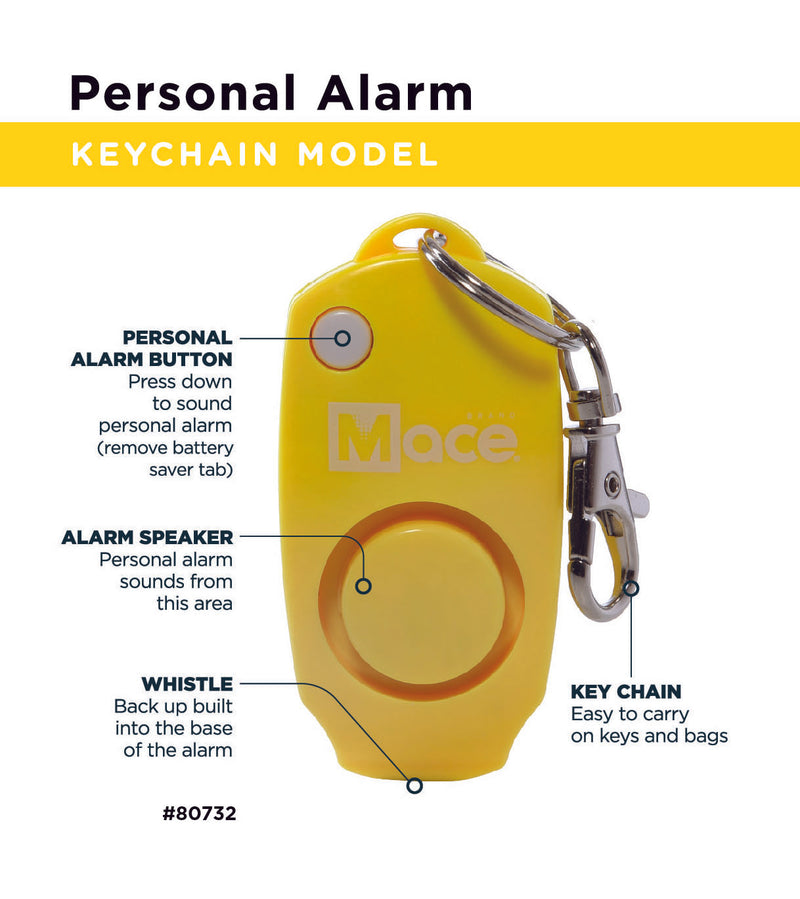 Pocket Model and Personal Alarm Combo- Yellow