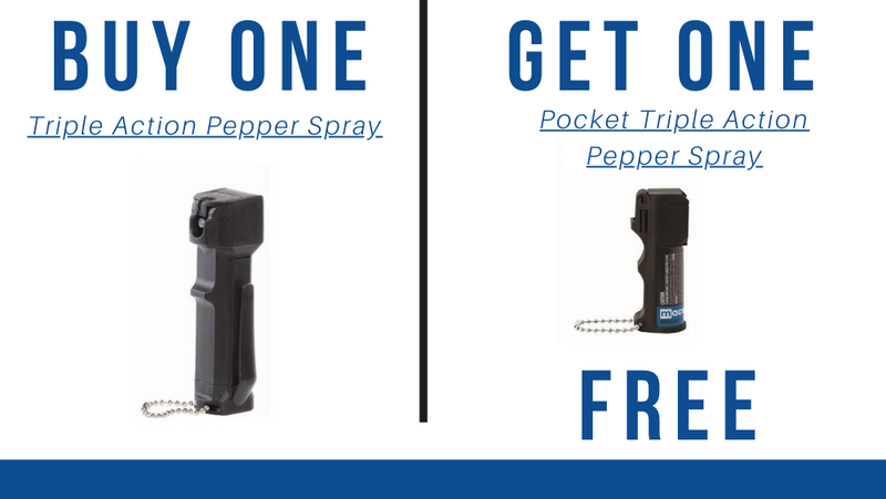 BOGO:  Triple Action Police Pepper Spray get a Free Pocket Triple Action Spray