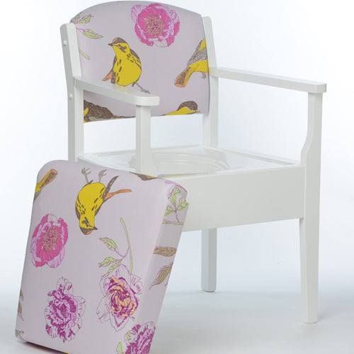 LUXURY Pink Peony Occasional Chair Commode