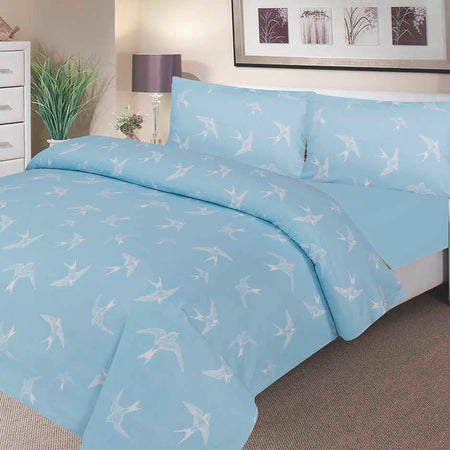 Waterproof Bed Sheet - Fitted - Sky Blue - Beautifully Soft & Comfortable