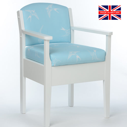 Blue Swallow Occasional Chair Commode