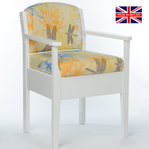 Occasional Chair Commode - LUXURY - Yellow Water Lily Design - Platinum Health & Beauty