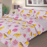 Waterproof Duvet Set - 100 % Waterproof - Pink Peony Design - Beautifully Soft & Comfortable - Platinum Health & Beauty