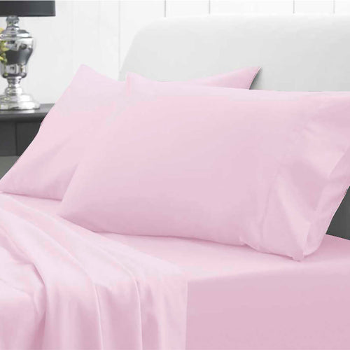 Pink Waterproof Fitted Sheet