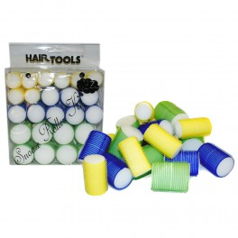 Hair Rollers - Snooze Roller Kit - Pack of 24 Rollers - 3 Sizes - Platinum Health & Beauty
