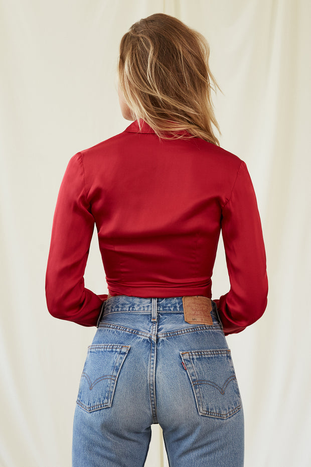 Josefine Blouse in Crimson