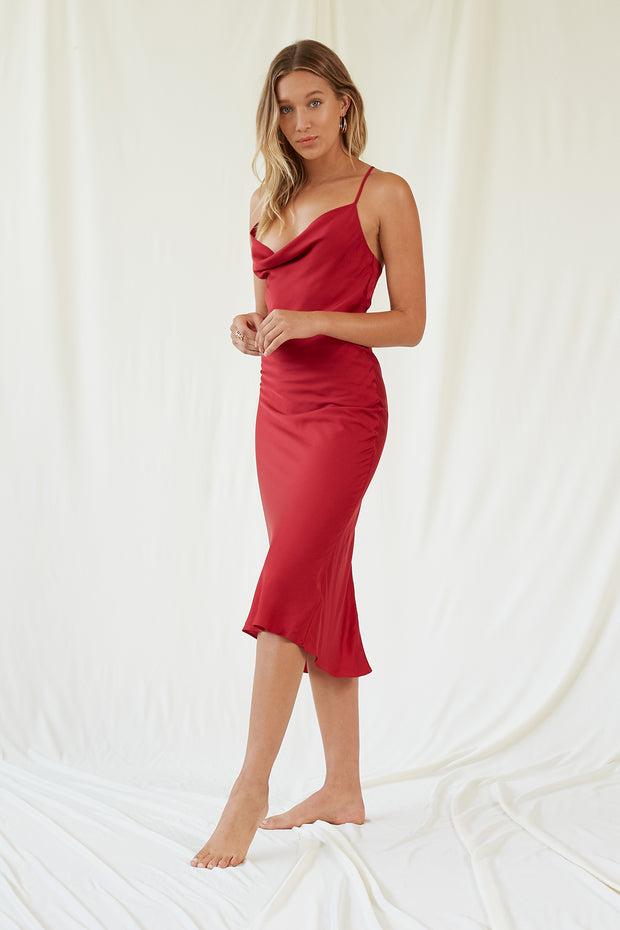 Kate Dress in Crimson
