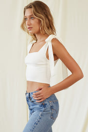 Loren Top in Ivory