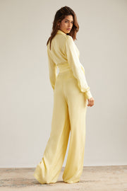 Bella Satin Pant in Banana