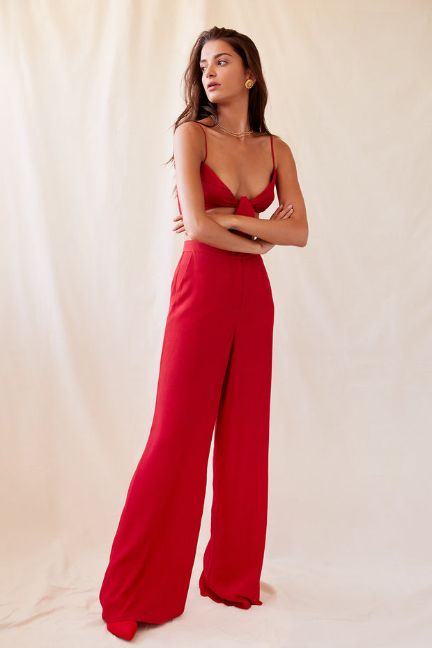 Bella Pant in Red