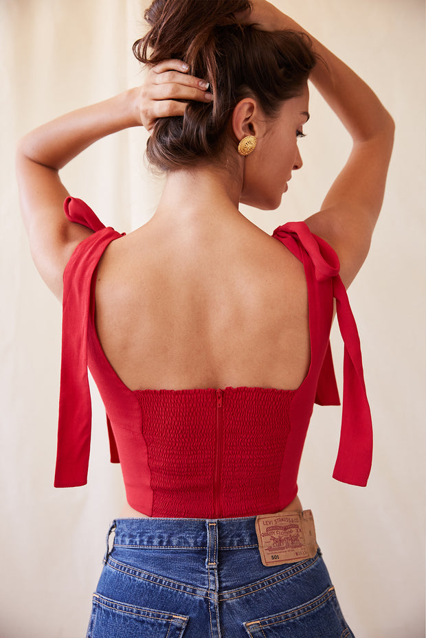 Loren Top in Red