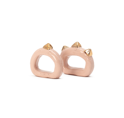 Pyramid Napkin Ring Set - Blush - Lux Eros