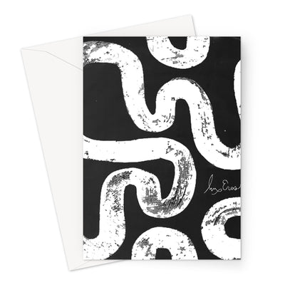 Black & White Batik Cards Greeting Card
