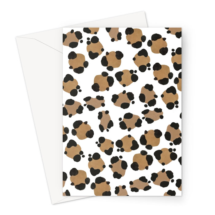 Leopard Cards Greeting Card
