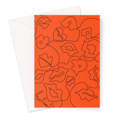 Kiss Card Greeting Card
