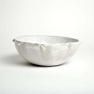Pyramid Serving Bowl - Snow - Lux Eros