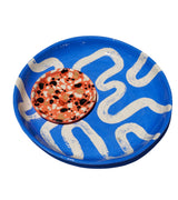 Large Shallow Serving Bowl - Cobalt Batik - Lux Eros